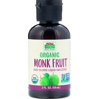Now Foods, Organic Monk Fruit, Liquid Sweetener, 2 fl oz (59 ml)