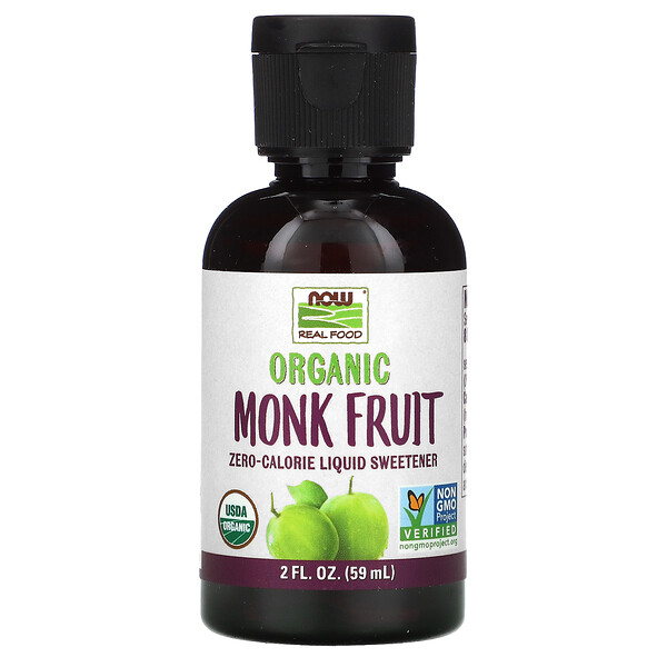 Real Food, Organic Monk Fruit, Liquid Sweetener, 2 fl oz (59 ml)