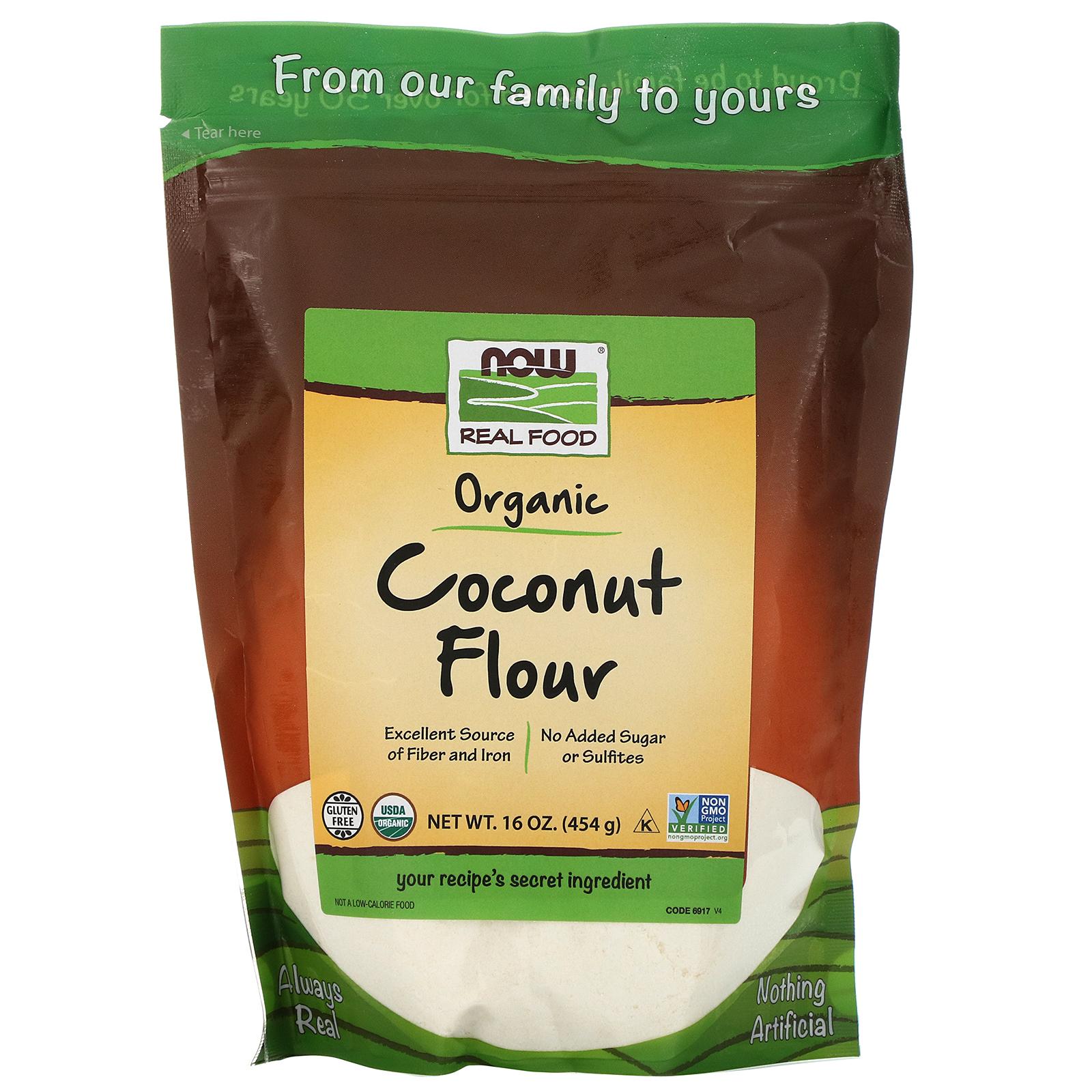 Now Foods Organic Coconut Flour 16 Oz 454 G Iherb