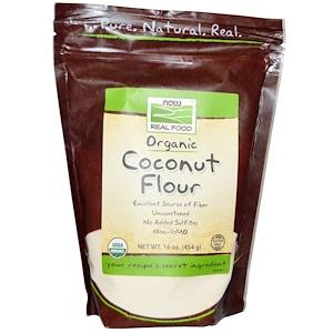Now Foods, Органическая кокосовая мука, 454 г (16 унц)