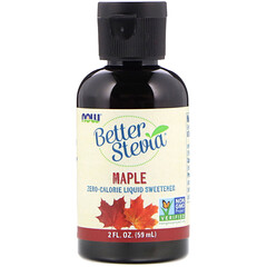 Now Foods, Better Stevia, Zero-Calorie Liquid Sweetener, Maple, 2 fl oz (59 ml)