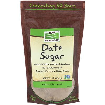 Real Food, Финиковый сахар, 1 фунт (454 г)  - купить со скидкой