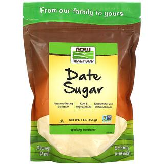 Now Foods, طعام حقيقي، سكر التمر، 1 رطل (454 غ)