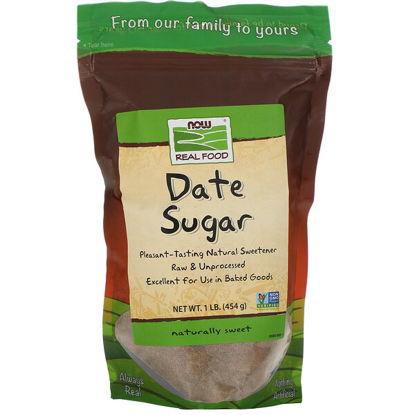 Real Food, Date Sugar, 1 lb (454 g)