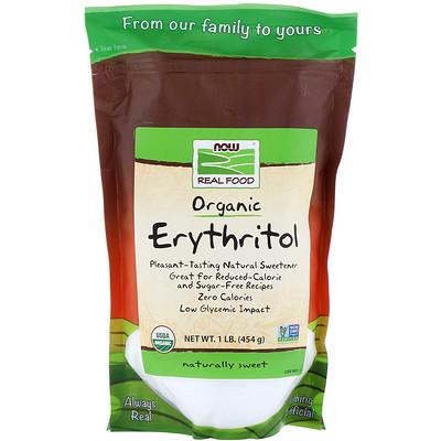 Купить Real Food, органический эритритол, 545г (1 фунт)