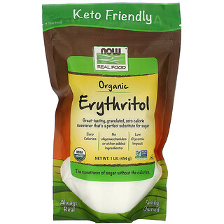 Now Foods, Real Food, Organic Erythritol, 1 lb (454 g)