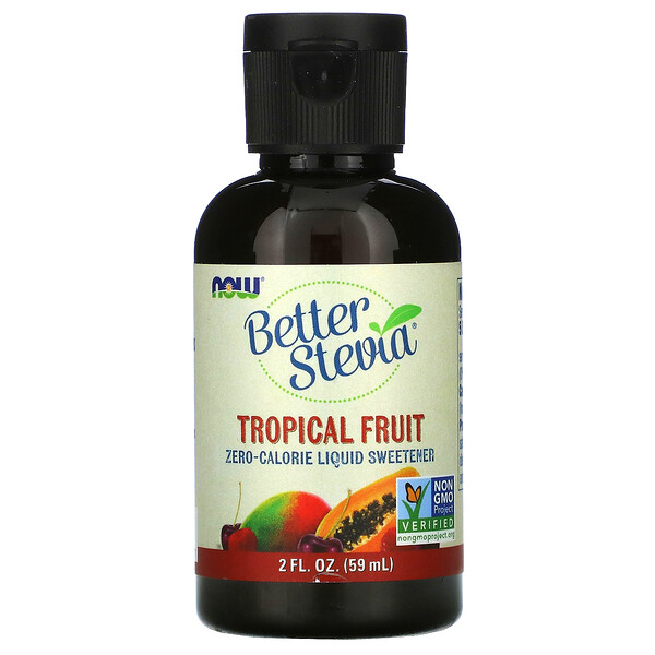 Better Stevia, Zero-Calorie Liquid Sweetener, Tropical Fruit, 2 fl oz (59 ml)