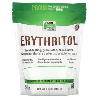 Now Foods, Real Food, Erythritol, 2.5 lbs (1,134 g)