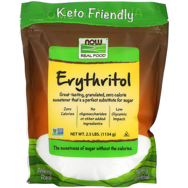 Real Food, Erythritol, 2.5 lbs (1,134 g)