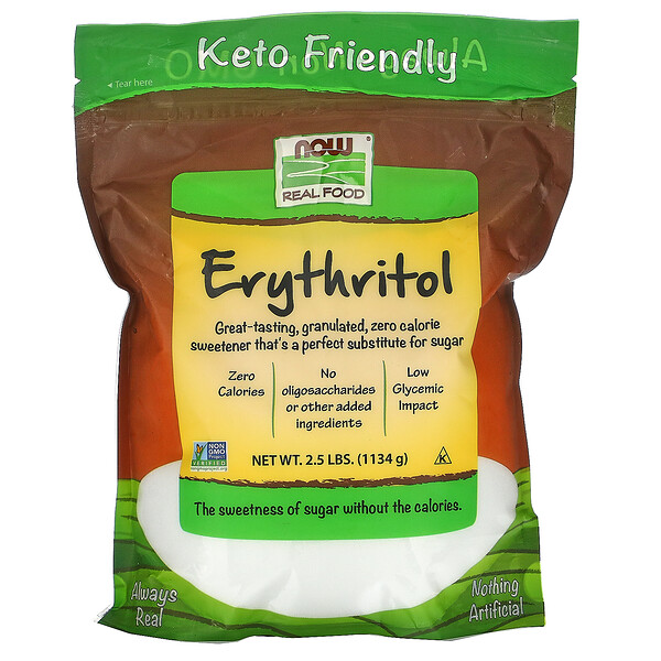 Real Food, Erythritol, 2.5 lbs (1,134 g)