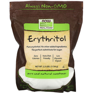 Now Foods, Real Food, Erythritol, 2.5 lbs (1,134 g) отзывы