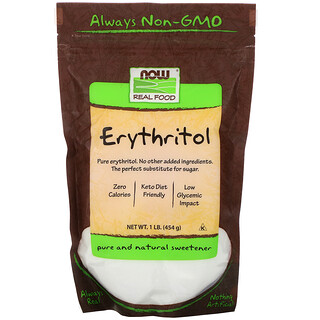 Now Foods, Real Food, Erythritol, Natural Sweetener, 1 lb (454 g)
