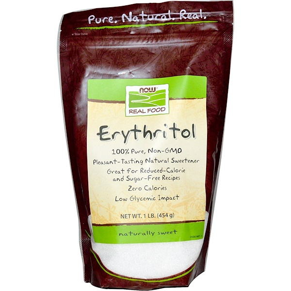 Now Foods, Real Food, Erythritol, Naturally Sweet, 1 lb (454 g)