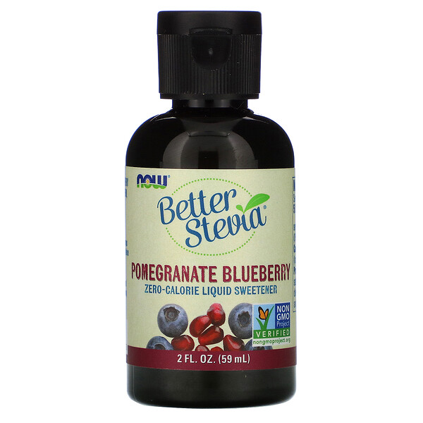 Better Stevia, Zero-Calorie Liquid Sweetener, Pomegranate Blueberry, 2 fl oz (59 ml)