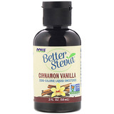 Отзывы о Now Foods, Better Stevia, жидкий подсластитель, корица и ваниль, 2 жидкие унции (60 мл)