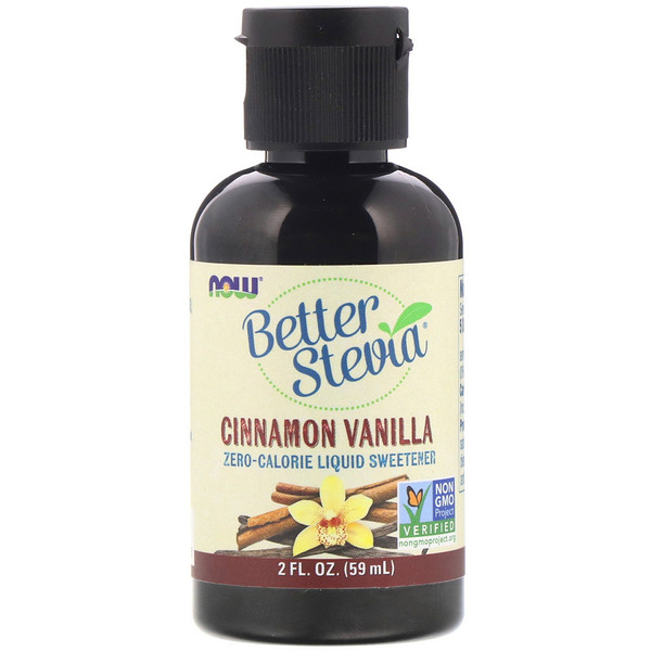 Better Stevia, Zero-Calorie Liquid Sweetener, Cinnamon Vanilla, 2 fl oz (60 ml)