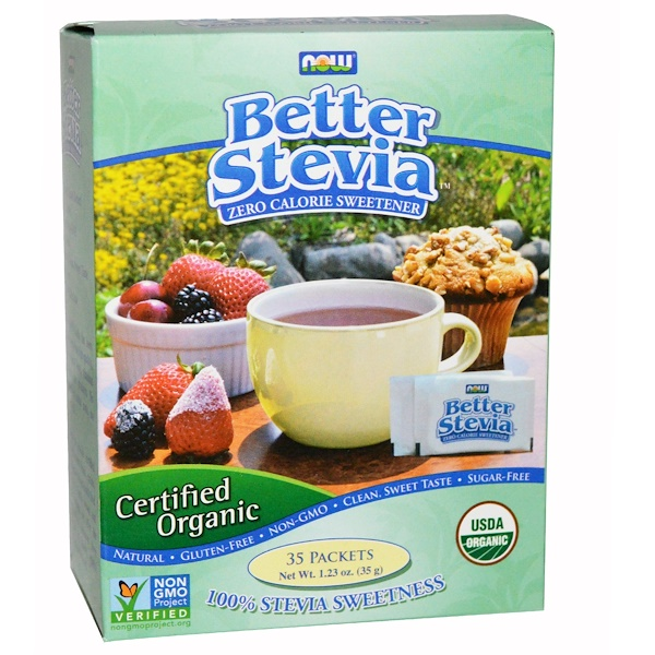 Now Foods, Certified Organic, Better Stevia, 35 Packets, (1 g) Each (Discontinued Item)