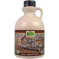 Real Food, органический кленовый сироп, класс А, темного цвета, 946мл (32 унции) - фото