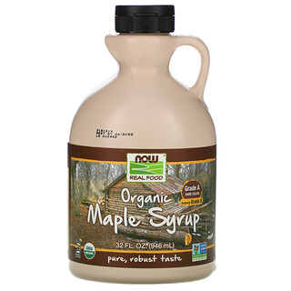 Now Foods, Real Food, Organic Maple Syrup, Grade A, Dark Color, 32 fl oz (946 ml)