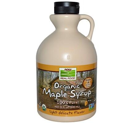 Купить Real Food, Органический кленовый сироп, класс А, средний янтарный, 32 жидкие унций (946 мл)