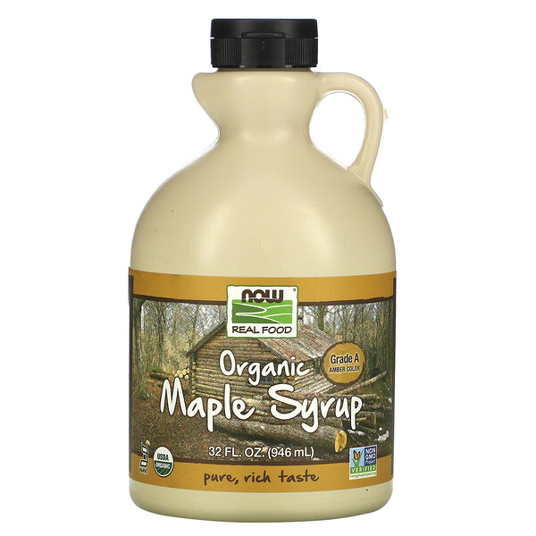 Real Food, Organic Maple Syrup, Grade A, Amber Color, 32 fl oz (946 ml)