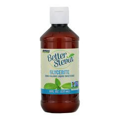Now Foods, BetterStevia,零卡路里液體甜味劑,甘油,8 液量盎司(237 毫升)