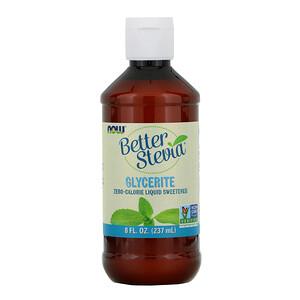 Now Foods, Better Stevia,  Zero-Calorie Liquid Sweetener, Glycerite, 8 fl oz (237 ml) отзывы покупателей