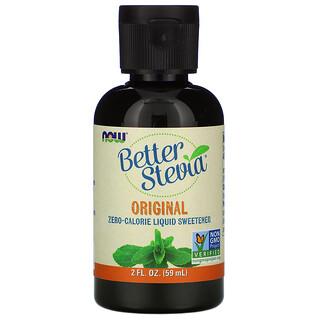 Now Foods, BetterSteiva، محلي سائل لا يحتوي على سعرات حرارية، أصلي، 2 أونصة سائلة (59 مل)
