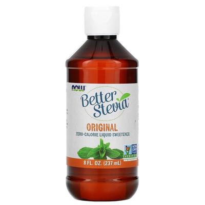 Купить Now Foods Better Stevia, жидкий бескалорийный подсластитель, оригинальный, 8 жидких унций (237 мл)