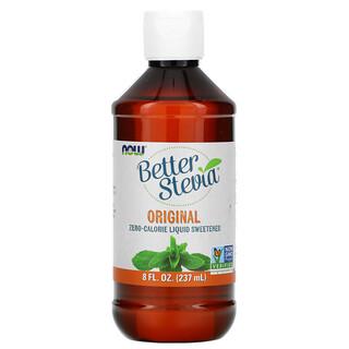 Now Foods, Better Stevia, Zero-Calorie Liquid Sweetener, Original, 8 fl oz (237 ml)