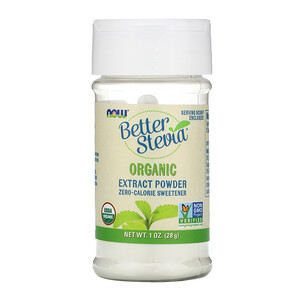 Now Foods, BetterStevia, Organic Extract Powder, 1 oz (28 g) отзывы покупателей