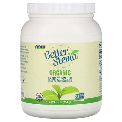 Better Stevia, Organic Extract Powder, 1 фунт (454 г) factory directly stevia leaves extract stevioside of iso9001 standard