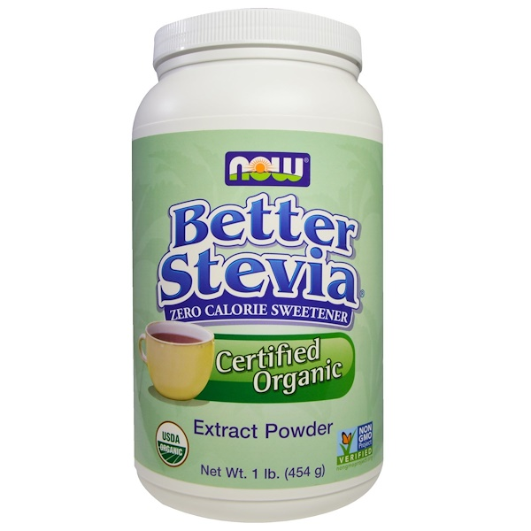Now Foods, Certified Organic, Better Stevia, Extract Powder, 1 lb (454 g)