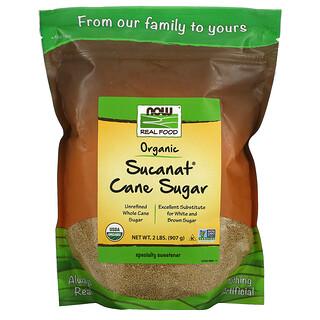 Now Foods, Real Food, Sucanat, сертифицированный органический тростниковый сахар, 907г (2фунта)