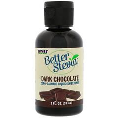Now Foods, BetterStevia Liquid, Zero-Calorie Liquid Sweetener, Dark Chocolate, 2 fl oz (59 ml)