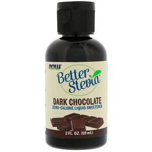 Now Foods, Better Stevia, Zero-Calorie Liquid Sweetener, Dark Chocolate, 2 fl oz (59 ml) отзывы покупателей