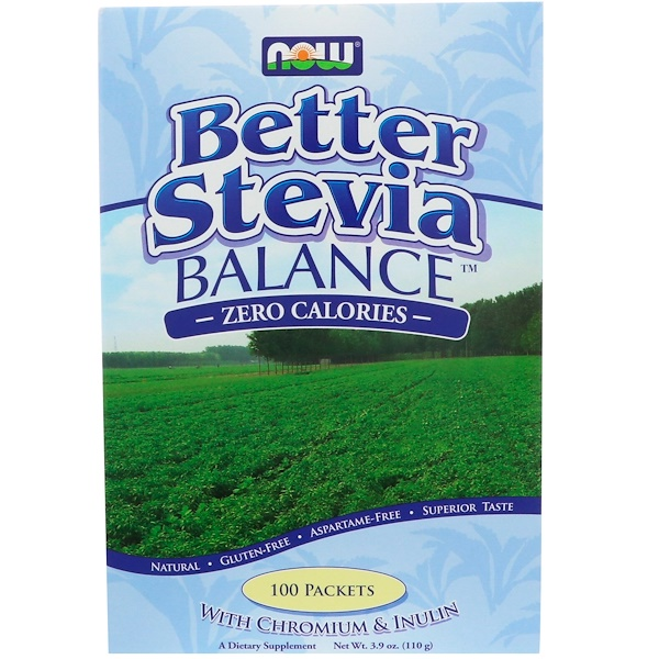 Now Foods, Better Stevia Balance, 100 Paquetes