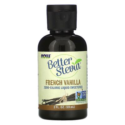 Купить Now Foods Жидкий подсластитель Better Stevia, французская ваниль, 59 мл