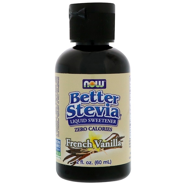 Now Foods, Better Stevia, Liquid Sweetener, French Vanilla, 2 fl oz (60 ml)