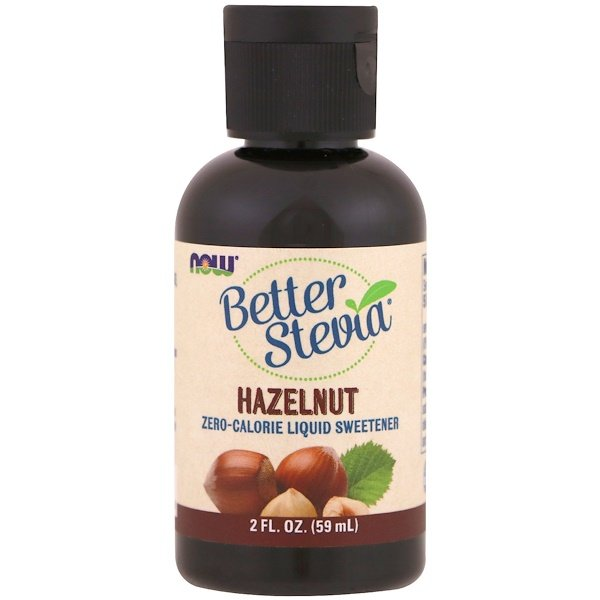 Now Foods, Better Stevia, Zero-Calorie Liquid Sweetener, Hazelnut, 2 fl oz (59 ml)