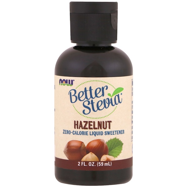 Better Stevia, Zero-Calorie Liquid Sweetener, Hazelnut, 2 fl oz (59 ml)