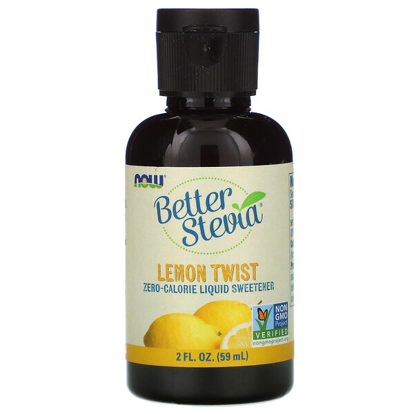 Better Stevia, Zero-Calorie Liquid Sweetener, Lemon Twist, 2 fl oz (59 ml)