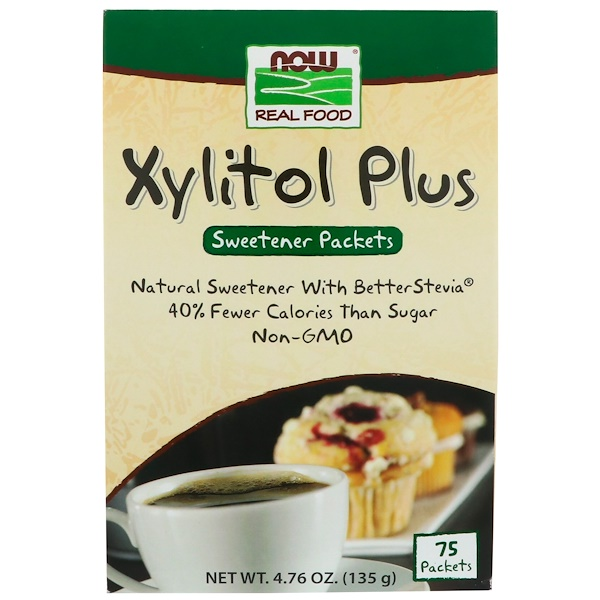 Now Foods, Xylitol Plus, 75 Packets, 4、76 oz (135 g)
