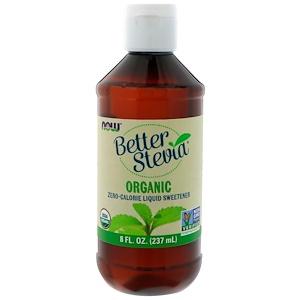 Now Foods, Organic, BetterStevia, Zero-Calorie Liquid Sweetener, 8 fl oz (237 ml)