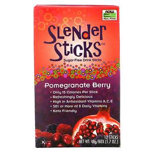 Now Foods, Real Food, Slender Sticks, Pomegranate Berry, 12 Sticks, 0.14 oz (4 g) Each отзывы покупателей