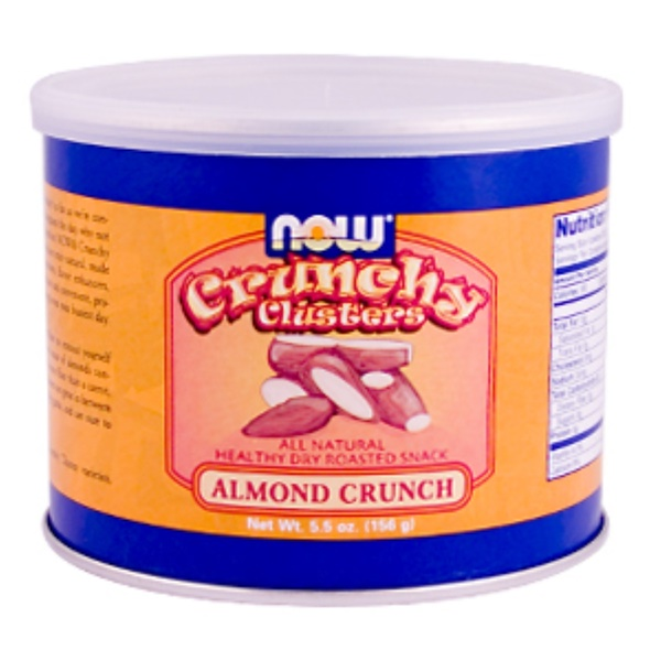 Now Foods, Crunchy Clusters, Almond Crunch, 5.5 oz (156 g) (Discontinued Item)