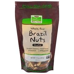 Now Foods, Real Food, 통 견과류, 로우 브라질 너트, 무염 식품, 12 oz (340 g)