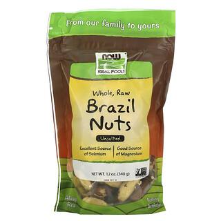 Now Foods, NOW Real Food, Nueces de Brasil Crudas, sin Sal, 12 oz (340 g)