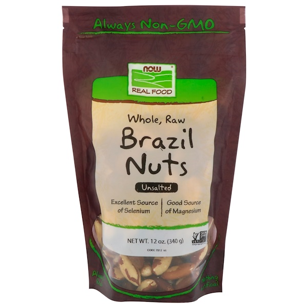 Real Food, Whole, Raw Brazil Nuts, Unsalted, 12 oz (340 g)
