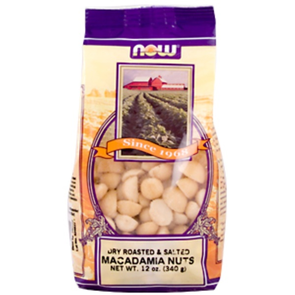 Now Foods, Macadamia Nuts, Dry Roasted & Salted, 12 oz. (340 g) (Discontinued Item)